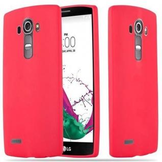 Cadorabo Hülle für LG G4 / G4 PLUS in CANDY ROT - Handyhülle aus flexiblem TPU Silikon - Silikonhülle Schutzhülle Ultra Slim Soft Back Cover Case Bumper