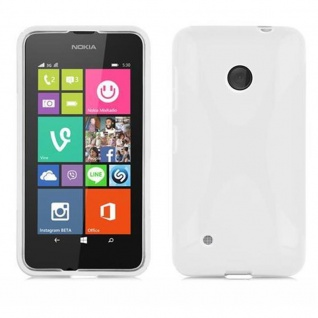 Cadorabo Hülle für Nokia Lumia 530 in HALB TRANSPARENT ? Handyhülle aus flexiblem TPU Silikon ? Silikonhülle Schutzhülle Ultra Slim Soft Back Cover Case Bumper