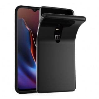 Cadorabo Hülle für OnePlus 6T in SCHWARZ - Handyhülle aus flexiblem TPU Silikon - Silikonhülle Schutzhülle Ultra Slim Soft Back Cover Case Bumper