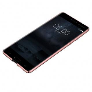 Cadorabo Hülle für Nokia 8 2017 in METALL ROSÉ GOLD - Hardcase Handyhülle aus Plastik gegen Kratzer und Stöße - Schutzhülle Bumper Ultra Slim Back Case Hard Cover - Vorschau 3