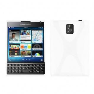 Cadorabo Hülle für Blackberry Q30 - Hülle in MAGNESIUM WEIß ? Handyhülle aus flexiblem TPU Silikon im X-Line Design - Ultra Slim Soft Backcover Case Bumper