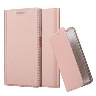 Cadorabo Hülle für Sony Xperia XZ / XZs in CLASSY ROSÉ GOLD - Handyhülle mit Magnetverschluss, Standfunktion und Kartenfach - Case Cover Schutzhülle Etui Tasche Book Klapp Style