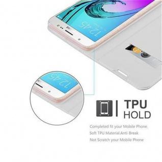 Cadorabo Hülle für Samsung Galaxy J5 2016 in CLASSY SILBER - Handyhülle mit Magnetverschluss, Standfunktion und Kartenfach - Case Cover Schutzhülle Etui Tasche Book Klapp Style - Vorschau 2