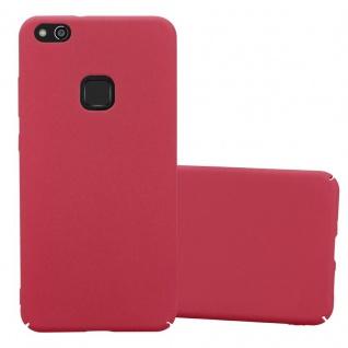 Cadorabo Hülle für Huawei P10 LITE in FROSTY ROT Hardcase Handyhülle aus Plastik gegen Kratzer und Stöße Schutzhülle Bumper Ultra Slim Back Case Hard Cover