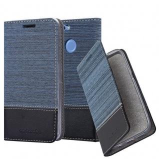 Cadorabo Hülle für Huawei NOVA 2 in DUNKEL BLAU SCHWARZ - Handyhülle mit Magnetverschluss, Standfunktion und Kartenfach - Case Cover Schutzhülle Etui Tasche Book Klapp Style