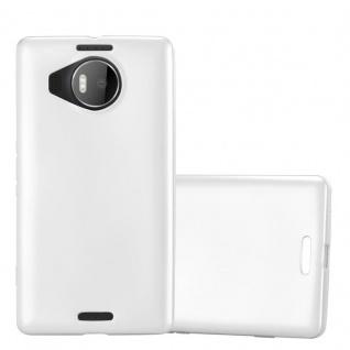 Cadorabo Hülle für Nokia Lumia 950 XL in METALLIC SILBER - Handyhülle aus flexiblem TPU Silikon - Silikonhülle Schutzhülle Ultra Slim Soft Back Cover Case Bumper - Vorschau 1