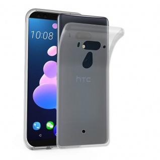 Cadorabo Hülle für HTC U12+ (Plus-Version) in VOLL TRANSPARENT - Handyhülle aus flexiblem TPU Silikon - Silikonhülle Schutzhülle Ultra Slim Soft Back Cover Case Bumper