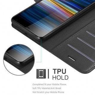 Cadorabo Hülle für Sony Xperia 10 PLUS in PHANTOM SCHWARZ Handyhülle mit Magnetverschluss, Standfunktion und Kartenfach Case Cover Schutzhülle Etui Tasche Book Klapp Style - Vorschau 5