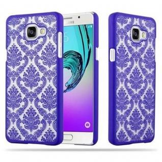Samsung Galaxy A5 2016 Hardcase Hülle in LILA von Cadorabo - Blumen Paisley Henna Design Schutzhülle ? Handyhülle Bumper Back Case Cover