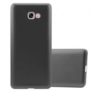 Cadorabo Hülle für Samsung Galaxy A7 2017 in METALLIC GRAU - Handyhülle aus flexiblem TPU Silikon - Silikonhülle Schutzhülle Ultra Slim Soft Back Cover Case Bumper
