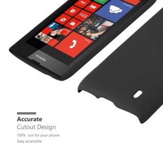Cadorabo Hülle für Nokia Lumia 520 in FROSTY SCHWARZ - Hardcase Handyhülle aus Plastik gegen Kratzer und Stöße - Schutzhülle Bumper Ultra Slim Back Case Hard Cover - Vorschau 5