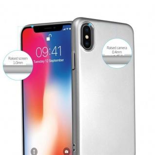 Cadorabo Hülle für Apple iPhone X / XS in METALL SILBER ? Hardcase Handyhülle aus Plastik gegen Kratzer und Stöße ? Schutzhülle Bumper Ultra Slim Back Case Hard Cover - Vorschau 2