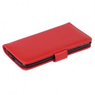 Cadorabo Hülle für LG K8 2016 in INFERNO ROT - Handyhülle mit Magnetverschluss und 3 Kartenfächern - Case Cover Schutzhülle Etui Tasche Book Klapp Style - Vorschau 2