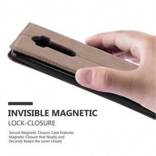Cadorabo Hülle für LG FLEX 2 in KAFFEE BRAUN - Handyhülle mit Magnetverschluss, Standfunktion und Kartenfach - Case Cover Schutzhülle Etui Tasche Book Klapp Style - Vorschau 5