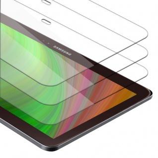 Cadorabo 3x Panzer Folie für Samsung Galaxy Tab 3 10.1 Schutzfolie in KRISTALL KLAR 3er Pack Gehärtetes (Tempered) Display-Schutzglas in 9H Härte mit 3D Touch Kompatibilität