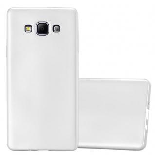 Cadorabo Hülle für Samsung Galaxy A7 2015 in METALLIC SILBER - Handyhülle aus flexiblem TPU Silikon - Silikonhülle Schutzhülle Ultra Slim Soft Back Cover Case Bumper