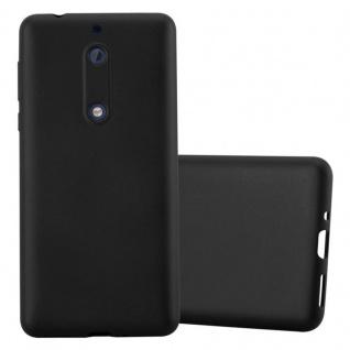 Cadorabo Hülle für Nokia 5 2017 in METALLIC SCHWARZ - Handyhülle aus flexiblem TPU Silikon - Silikonhülle Schutzhülle Ultra Slim Soft Back Cover Case Bumper