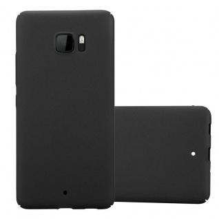 Cadorabo Hülle für HTC U Ultra in FROSTY SCHWARZ - Hardcase Handyhülle aus Plastik gegen Kratzer und Stöße - Schutzhülle Bumper Ultra Slim Back Case Hard Cover