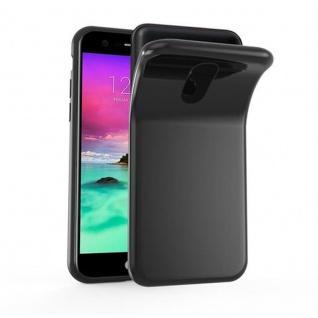 Cadorabo Hülle für LG K10 2017 in SCHWARZ - Handyhülle aus flexiblem TPU Silikon - Silikonhülle Schutzhülle Ultra Slim Soft Back Cover Case Bumper