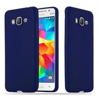 Cadorabo Hülle für Samsung Galaxy GRAND PRIME in CANDY DUNKEL BLAU - Handyhülle aus flexiblem TPU Silikon - Silikonhülle Schutzhülle Ultra Slim Soft Back Cover Case Bumper