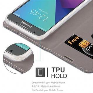 Cadorabo Hülle für Samsung Galaxy J7 2017 (US Version) in GRAU SCHWARZ - Handyhülle mit Magnetverschluss, Standfunktion und Kartenfach - Case Cover Schutzhülle Etui Tasche Book Klapp Style - Vorschau 3