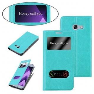 Cadorabo Hülle für Samsung Galaxy A5 2017 in MINT TÜRKIS ? Handyhülle mit Magnetverschluss, Standfunktion und 2 Sichtfenstern ? Case Cover Schutzhülle Etui Tasche Book Klapp Style - Vorschau 4
