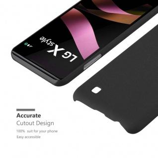 Cadorabo Hülle für LG X Power in FROSTY SCHWARZ - Hardcase Handyhülle aus Plastik gegen Kratzer und Stöße - Schutzhülle Bumper Ultra Slim Back Case Hard Cover - Vorschau 4