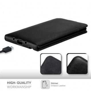 Cadorabo Hülle für Samsung Galaxy NOTE EDGE in NACHT SCHWARZ - Handyhülle im Flip Design mit unsichtbarem Magnetverschluss - Case Cover Schutzhülle Etui Tasche Book Klapp Style - Vorschau 5