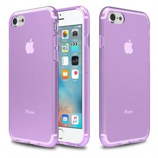 Cadorabo Hülle für Apple iPhone 7 / iPhone 7S / iPhone 8 - Hülle in TRANSPARENT LILA ? Handyhülle aus TPU Silikon im Ultra Slim 'AIR' Design - Ultra Slim Soft Backcover Case Bumper