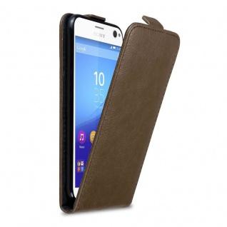 Cadorabo Hülle für Sony Xperia C4 in KAFFEE BRAUN - Handyhülle im Flip Design mit Magnetverschluss - Case Cover Schutzhülle Etui Tasche Book Klapp Style