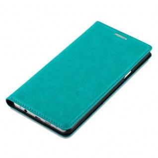 Cadorabo Hülle für Samsung Galaxy A5 2016 in PETROL TÜRKIS - Handyhülle mit Magnetverschluss, Standfunktion und Kartenfach - Case Cover Schutzhülle Etui Tasche Book Klapp Style - Vorschau 4