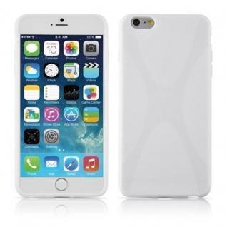 Cadorabo Hülle für Apple iPhone 6 PLUS / iPhone 6S PLUS - Hülle in MAGNESIUM WEIß ? Handyhülle aus flexiblem TPU Silikon im X-Line Design - Ultra Slim Soft Backcover Case Bumper