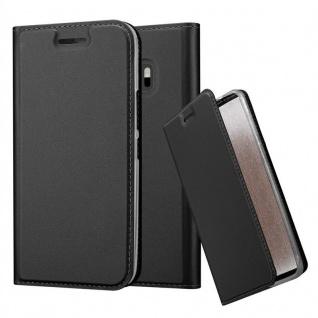 Cadorabo Hülle für HTC One M10 in CLASSY SCHWARZ - Handyhülle mit Magnetverschluss, Standfunktion und Kartenfach - Case Cover Schutzhülle Etui Tasche Book Klapp Style