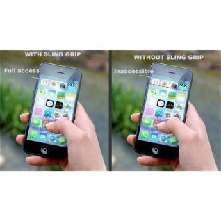 Cadorabo - Finger-Halterung Sling Grip für Smartphone / Tablet / iPod / eReader Griff Henkel Sling Schlaufe Riemen in SCHWARZ - Vorschau 4