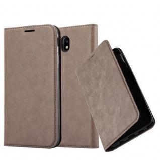 Cadorabo Hülle für Samsung Galaxy J3 2017 in KAFFEE BRAUN - Handyhülle mit Magnetverschluss, Standfunktion und Kartenfach - Case Cover Schutzhülle Etui Tasche Book Klapp Style