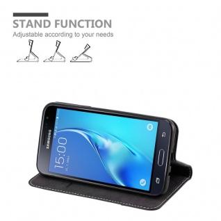 Cadorabo Hülle für Samsung Galaxy J3 / J3 DUOS 2016 in SCHWARZ BRAUN ? Handyhülle mit Magnetverschluss, Standfunktion und Kartenfach ? Case Cover Schutzhülle Etui Tasche Book Klapp Style - Vorschau 3