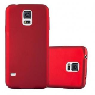 Cadorabo Hülle für Samsung Galaxy S5 / S5 NEO in METALL ROT ? Hardcase Handyhülle aus Plastik gegen Kratzer und Stöße ? Schutzhülle Bumper Ultra Slim Back Case Hard Cover