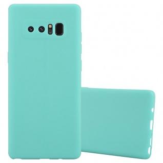 Cadorabo Hülle für Samsung Galaxy NOTE 8 in CANDY BLAU - Handyhülle aus flexiblem TPU Silikon - Silikonhülle Schutzhülle Ultra Slim Soft Back Cover Case Bumper
