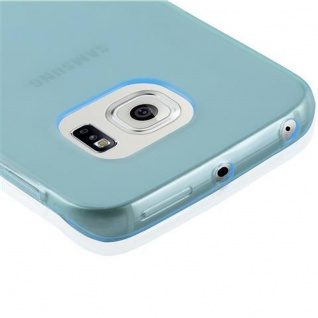 Cadorabo Hülle für Samsung Galaxy S6 EDGE in TRANSPARENT BLAU - Handyhülle aus flexiblem TPU Silikon - Silikonhülle Schutzhülle Ultra Slim Soft Back Cover Case Bumper - Vorschau 5