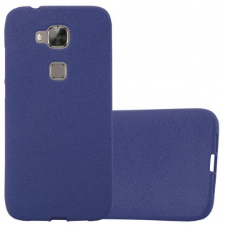 Cadorabo Hülle für Huawei G7 PLUS / G8 / GX8 in FROST DUNKEL BLAU - Handyhülle aus flexiblem TPU Silikon - Silikonhülle Schutzhülle Ultra Slim Soft Back Cover Case Bumper