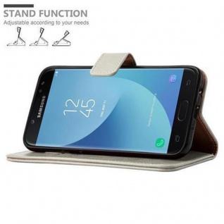Cadorabo Hülle für Samsung Galaxy J7 2017 in CAPPUCCINO BRAUN ? Handyhülle mit Magnetverschluss, Standfunktion und Kartenfach ? Case Cover Schutzhülle Etui Tasche Book Klapp Style - Vorschau 5