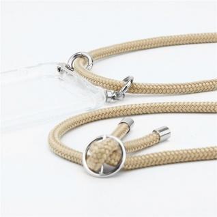 Cadorabo Handy Kette für Huawei P20 in GLÄNZEND BRAUN - Silikon Necklace Umhänge Hülle mit Silber Ringen, Kordel Band Schnur und abnehmbarem Etui - Schutzhülle - Vorschau 2