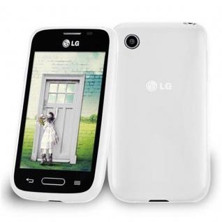 Cadorabo Hülle für LG L40 (1. Sim-Version) in HALB TRANSPARENT ? Handyhülle aus flexiblem TPU Silikon ? Silikonhülle Schutzhülle Ultra Slim Soft Back Cover Case Bumper
