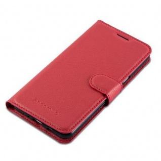 Cadorabo Hülle für Samsung Galaxy J7 2016 in KARMIN ROT Handyhülle mit Magnetverschluss, Standfunktion und Kartenfach Case Cover Schutzhülle Etui Tasche Book Klapp Style - Vorschau 4