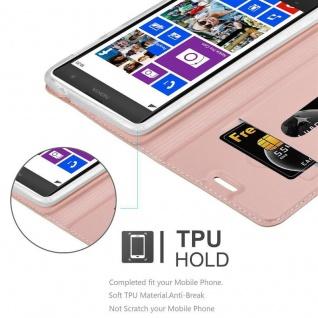 Cadorabo Hülle für Nokia Lumia 1020 in CLASSY ROSÉ GOLD - Handyhülle mit Magnetverschluss, Standfunktion und Kartenfach - Case Cover Schutzhülle Etui Tasche Book Klapp Style - Vorschau 2