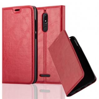 Cadorabo Hülle für WIKO VIEW in APFEL ROT Handyhülle mit Magnetverschluss, Standfunktion und Kartenfach Case Cover Schutzhülle Etui Tasche Book Klapp Style