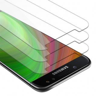 Cadorabo 3x Panzer Folie für Samsung Galaxy J3 2017 - Schutzfolie in KRISTALL KLAR - 3er Pack Gehärtetes (Tempered) Display-Schutzglas in 9H Härte mit 3D Touch Kompatibilität