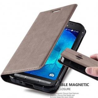 Cadorabo Hülle für Samsung Galaxy XCover 3 in KAFFEE BRAUN - Handyhülle mit Magnetverschluss, Standfunktion und Kartenfach - Case Cover Schutzhülle Etui Tasche Book Klapp Style