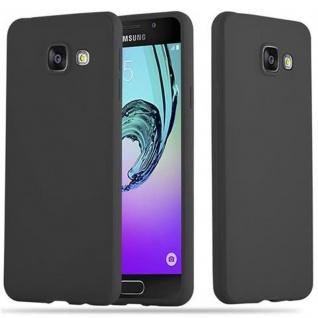 Cadorabo Hülle für Samsung Galaxy A3 2016 in CANDY SCHWARZ - Handyhülle aus flexiblem TPU Silikon - Silikonhülle Schutzhülle Ultra Slim Soft Back Cover Case Bumper