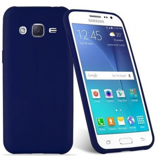 Cadorabo Hülle für Samsung Galaxy J2 2015 in CANDY DUNKEL BLAU - Handyhülle aus flexiblem TPU Silikon - Silikonhülle Schutzhülle Ultra Slim Soft Back Cover Case Bumper - Vorschau 2